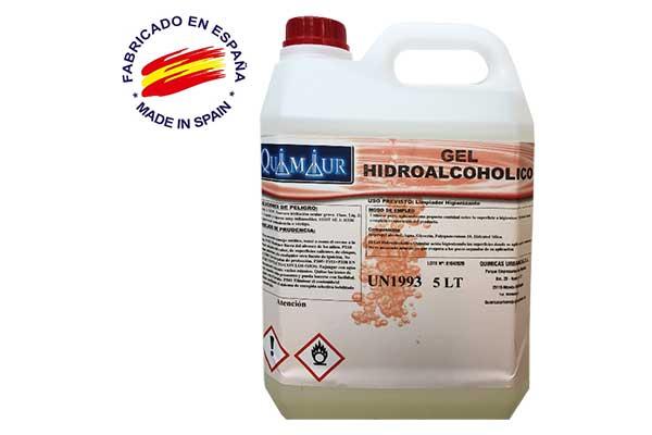 Gel hidroalcohólico 5 litros al por mayor