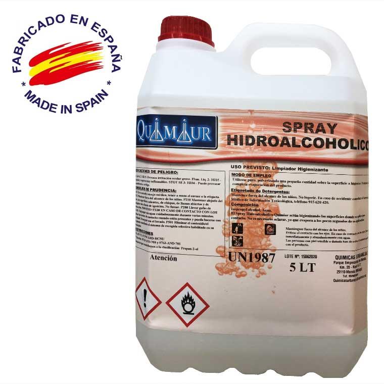 Spray hidroalcohólico 5 Litros